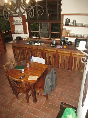 "Arco Iris Lodge:                   Kitchen in ""the Casa."""