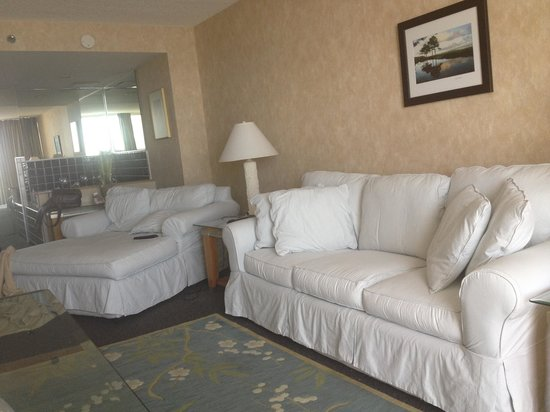 Holiday Inn Express Nags Head Oceanfront:                   Living room side of suite