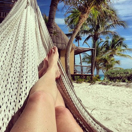 Hip Hotel Tulum: Feet up, takin a break