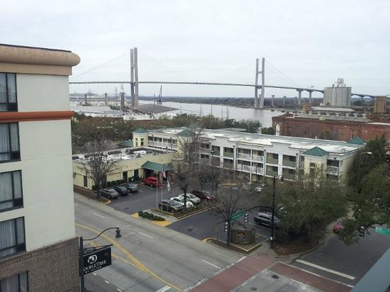 ‪‪Hilton Garden Inn Savannah Historic District‬: View from balcony‬