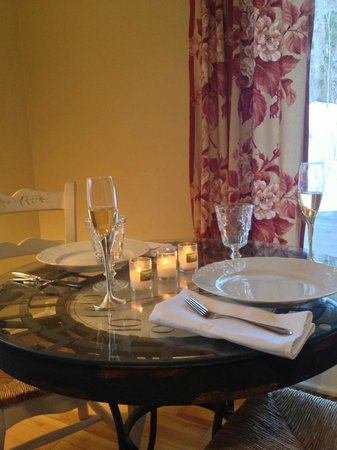 Walkerbrae House:                                     Romantic dinner