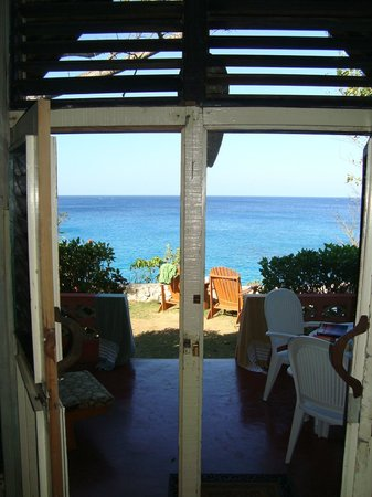 View from inside A Frame looking out front door - Picture of ...