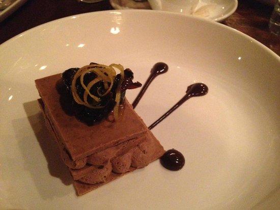 Muse Restaurant:                   Chocolate Millefuille - Hazelnut