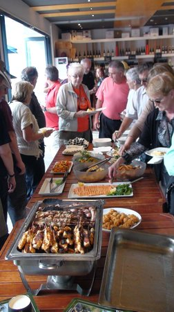 Big Picture Wine Experience :                   Buffet for Tour Group - Saturday 16th March 2013