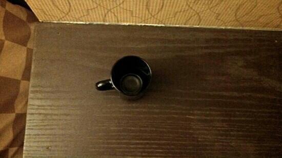 Howard Johnson Sioux City:                   dirty coffee cup on ledge