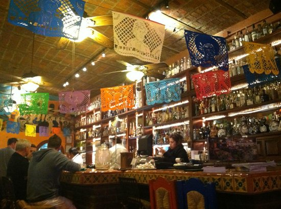 Pancho's Restaurant & Tequila Bar:                   View of the Bar Open air!