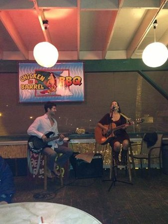 Chicken In A Barrel BBQ:                   live music on Friday nights at 6 pm! come and get some great chicken cooked in