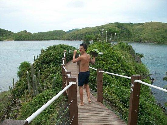 Forte Beach: pasarelitas detras del fuerte