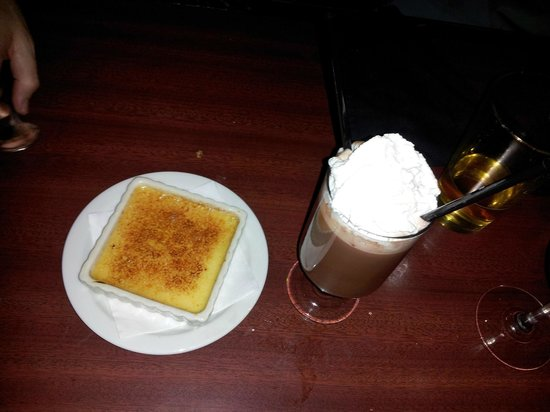 The Salt Creek Steakhouse :                   Yummy creme brulee and peppermint patty