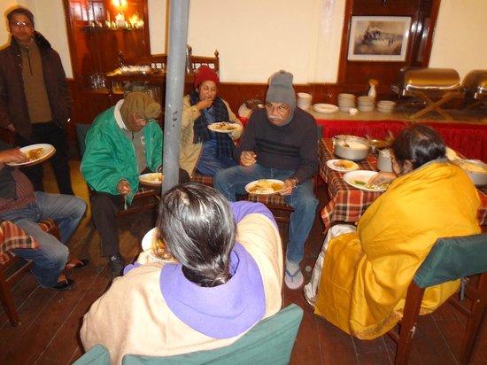Summit Swiss Heritage Hotel & Spa:                   In zero degree centigrade Temperature  dinning.