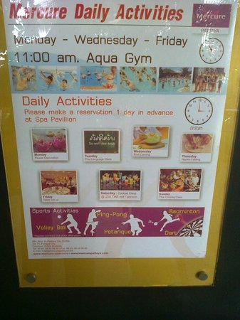 Mercure Pattaya Hotel: Daily Activities