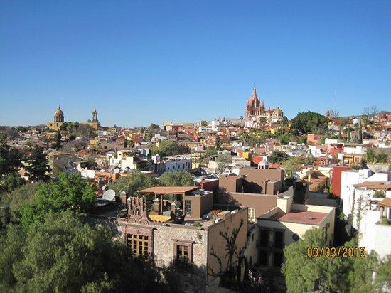 Rosewood San Miguel de Allende:                   Rooftop Bar view over city