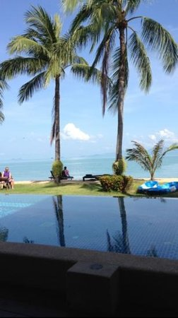 Baan Bophut Beach Hotel:                   the perfect infinity pool