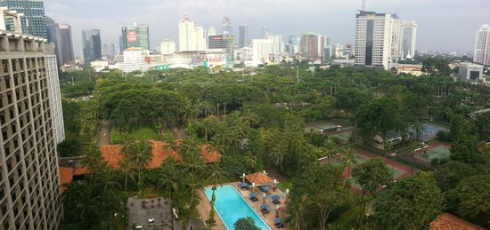 The Sultan Hotel & Residence Jakarta: View from my room, 14th Executive Floor, Sultan hotel, Jakarta