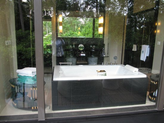 Banyan Tree Samui: View from the outside, overlooking the bathtub