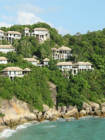 Banyan Tree Samui: Panoramic view of the hotel