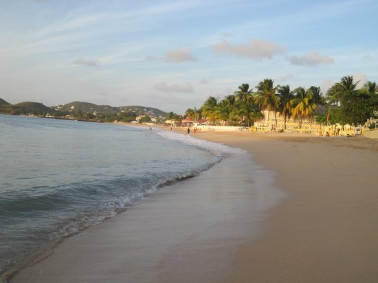 St. Lucian by Rex Resorts:                   Beach view of hotel