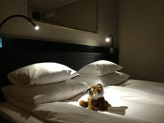 GLO Hotel Art: Un simpatico tigrotto (organizzato dallo staff) attende l'arrivo dell'ospite