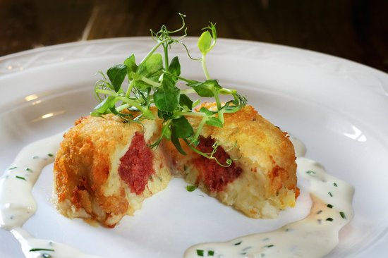 The Bell Inn: Corn Beef Hash Cakes from Winter Specials Menu