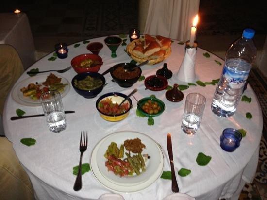Riad Tizwa:                   Delicious dinner!