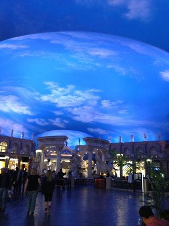 Clouds On Ceiling Picture Of Forum Shops At Caesars