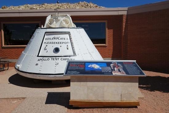 Meteor Crater:                   Apollo Test Capsule                 