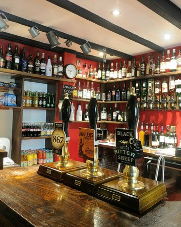 The Moors Inn: Real ales, whiskeys, wine & soft drinks from the bar