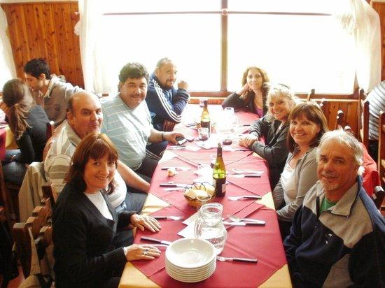 Hotel Alun Nehuen: comedor,con vista al cerro lopez y al lago NAHUEL hUAPI