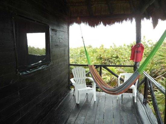 Cesiak Centro Ecologico Sian Ka'an: Hammock & porch.  Heaven!!