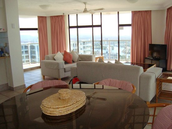 Breakfree Peninsula:                   Lounge area of 2 bedroom apartment