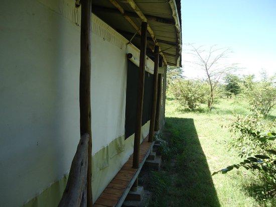 Olowuaru Keri Mara Camp:                                     Beside our tent