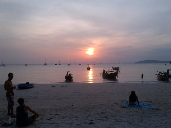 Railay Village Resort:                   Beach in front of the resort