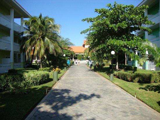 Hotel Riu Playacar: pasillos exteriores
