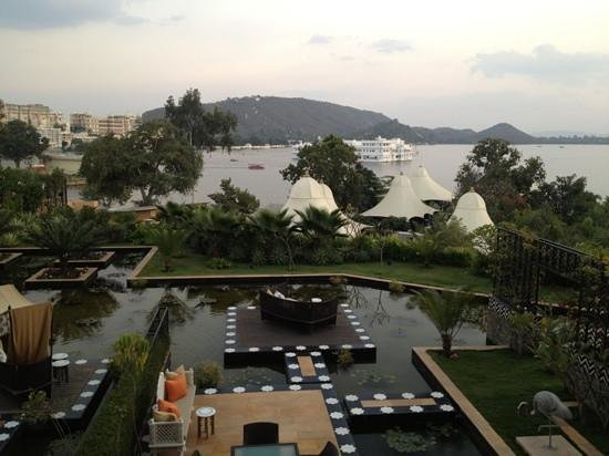 The Leela Palace Udaipur:                   view from room
