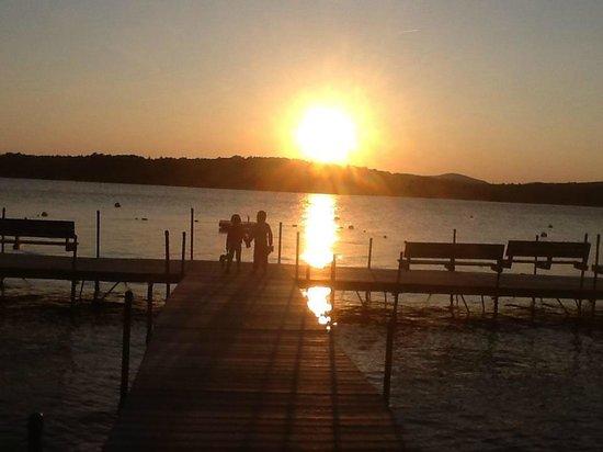 Rangeley Lake Resort, a Festiva Resort:                   Sunset at the docks