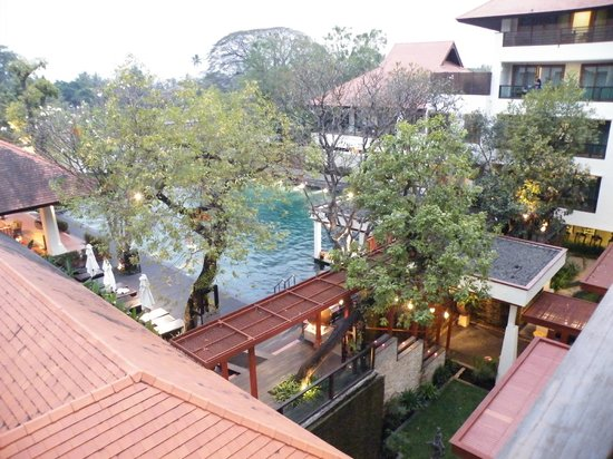 Ratilanna Riverside Spa Resort Chiang Mai: View from our balcony towards the river