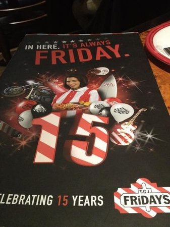 T.G.I. Friday's Andel:                   menu