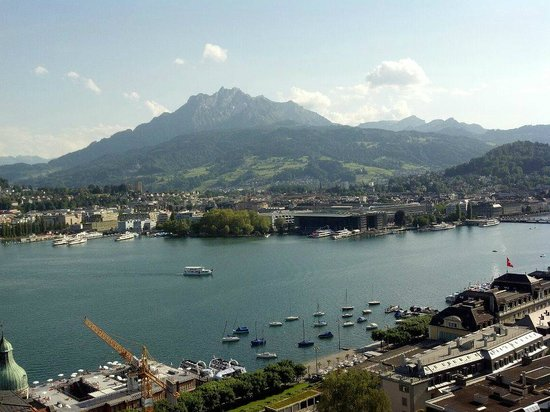 Art Deco Hotel Montana Luzern: View from the balcony