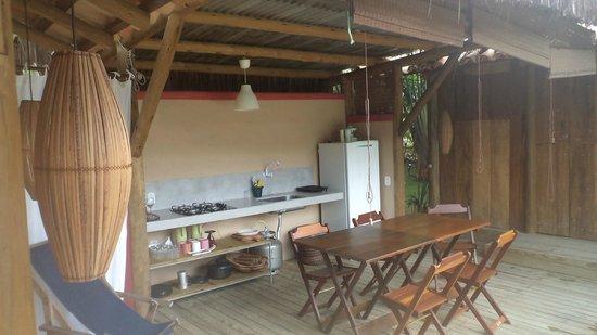 Soleluna Casa Pousada: cozinha acoplada
