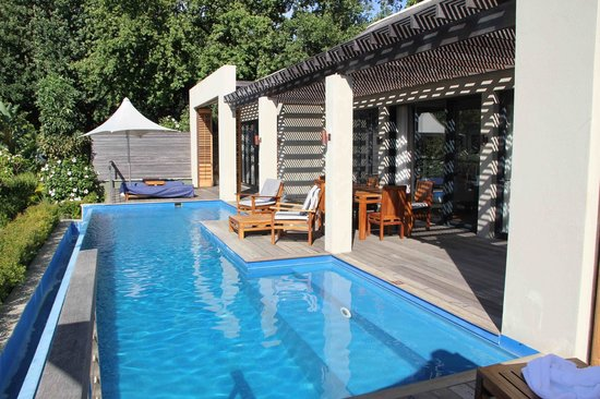 Delaire Graff Estate - Lodges and Spa:                   Pool in the lodge
