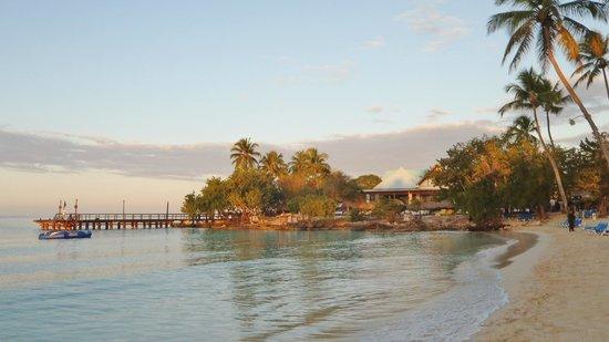 Dreams La Romana Resort & Spa: le ponton et la plage au lever du jour