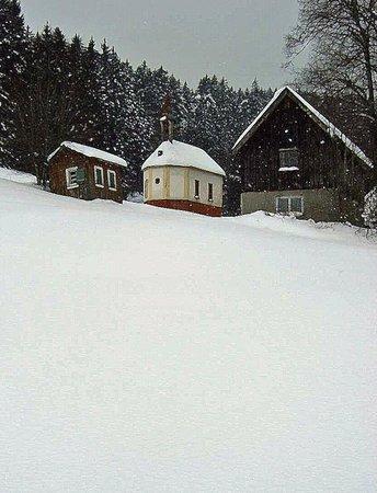 Gaestehaus Dold:                                     Farm outbuildings in snow
