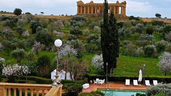 Our Room View Of The Temple Of Hera Picture Of Hotel Villa Athena Sicily Tripadvisor