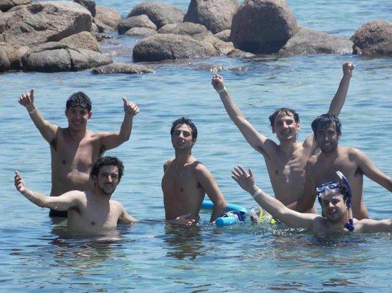 Lagoa Azul:                   En Blue Lagoon con amigos
