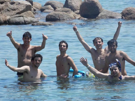 Ilha Grande, RJ:                   En Blue Lagoon con amigos