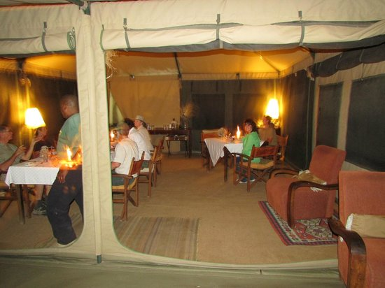 Manyara Ranch Conservancy:                   Great food, Great dining tent!