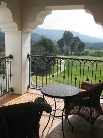 Ojai Valley Inn & Spa: Our terrace