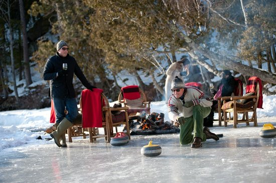 The Point: Curling in action on the Upper Saranac Lake