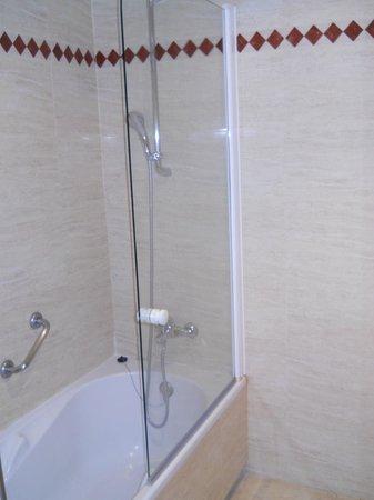 Apartamentos Manilva Green: Shower over bath