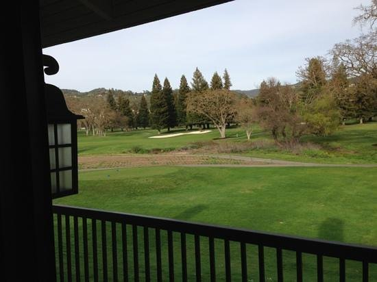 Silverado Resort and Spa:                   View from the suite of the golf course.